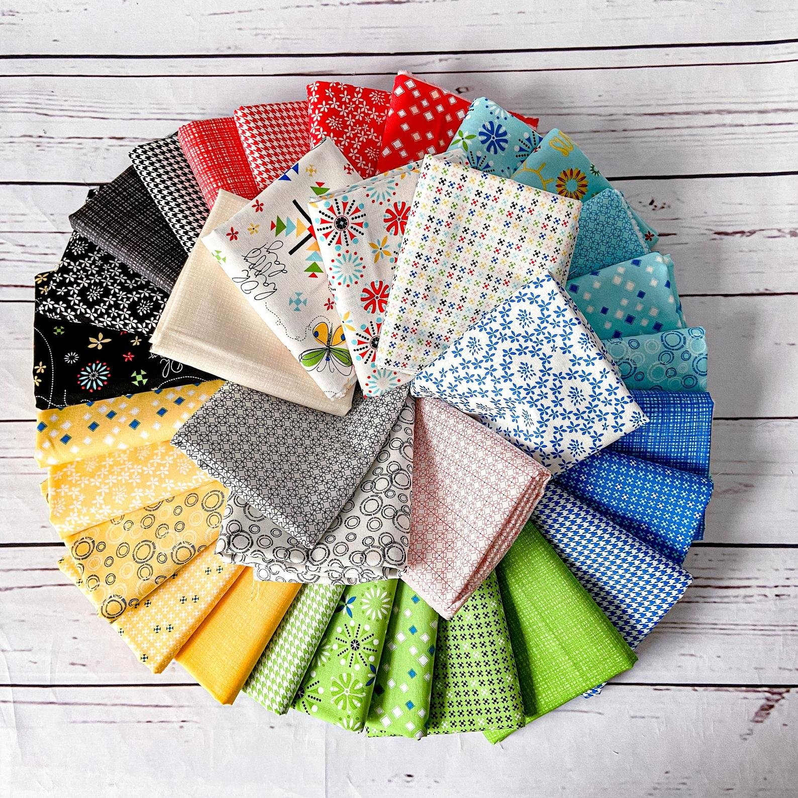 Oh Happy Day! Fat Quarter Bundle by Sandy Gervais