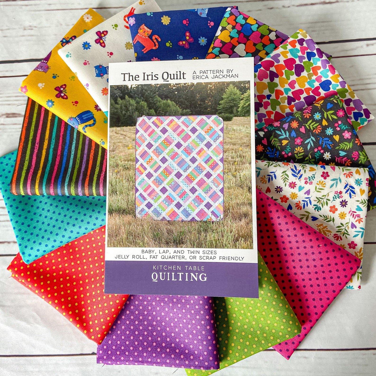 Katie's Cats Iris Quilt Kit