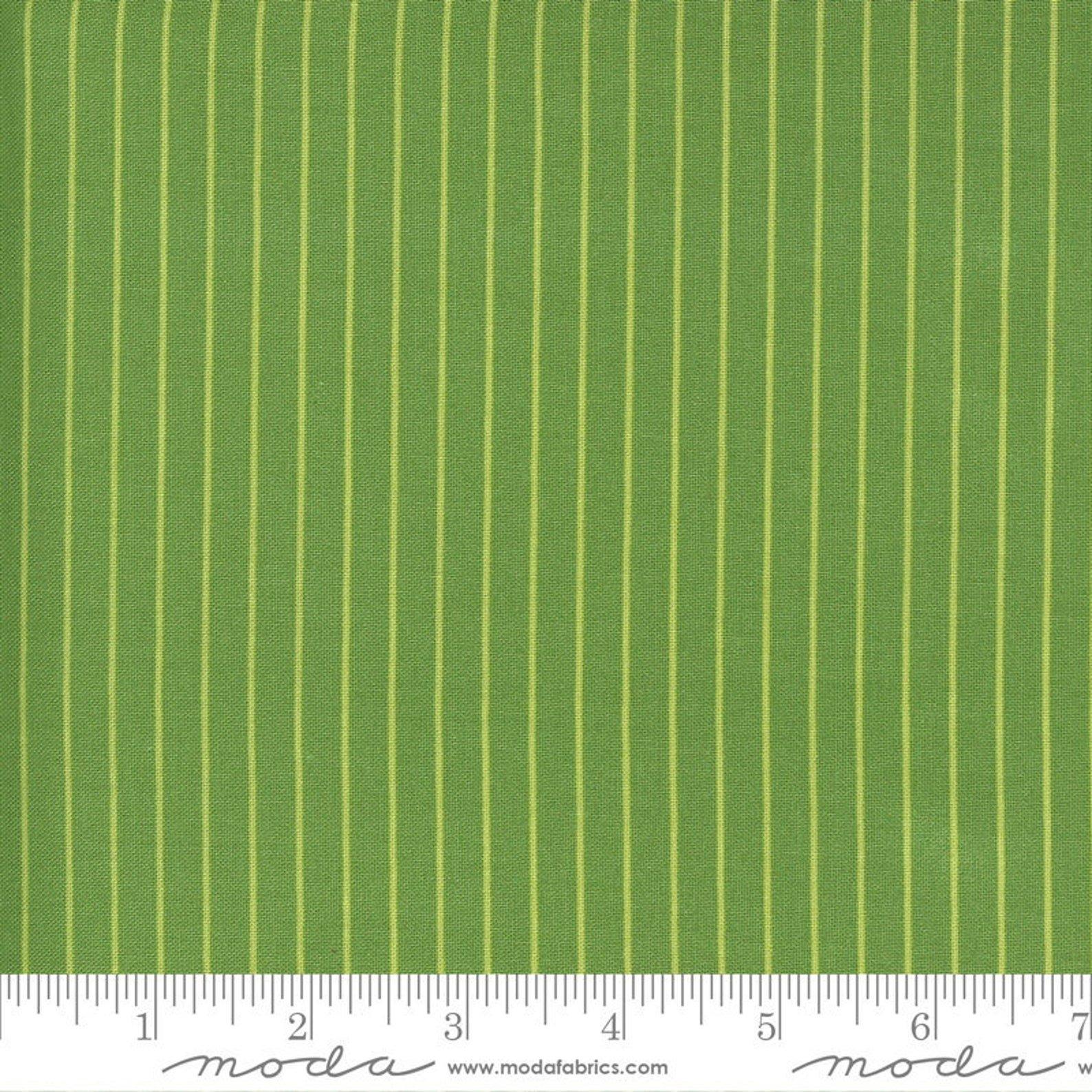 Sunday Stroll Wide Stripe Green for Moda