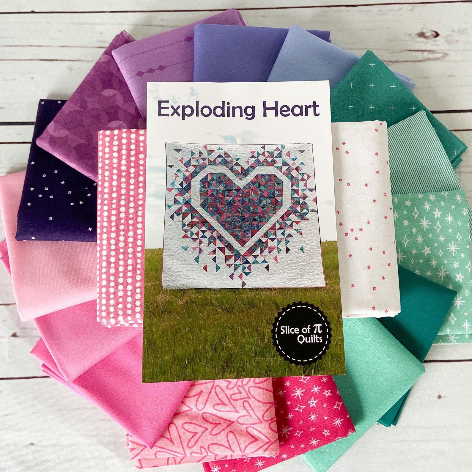Exploding Hearts Quilt Kit