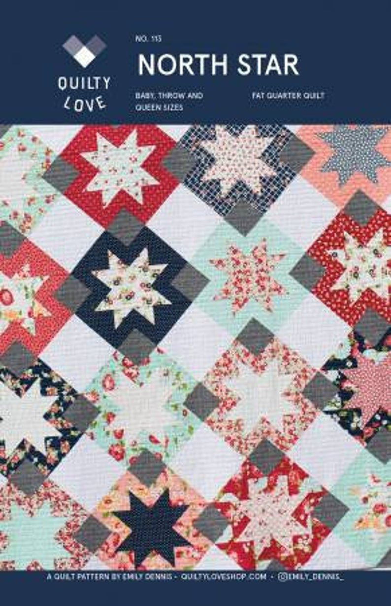 North Star Quilt Pattern by Quilty Love