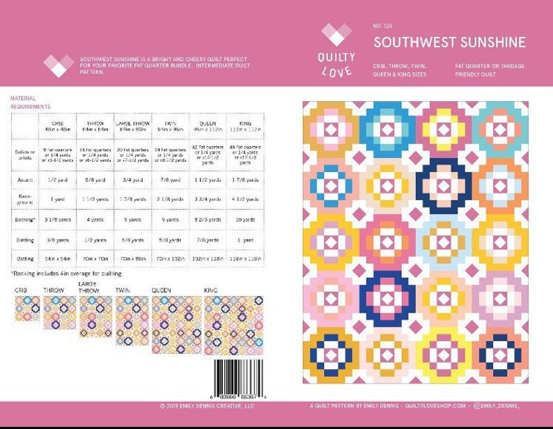 Southwest Sunshine Quilt Pattern by Quilty Love