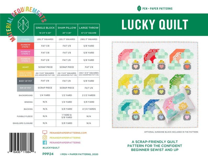 Lucky Quilt Pattern from Pen + Paper Patterns