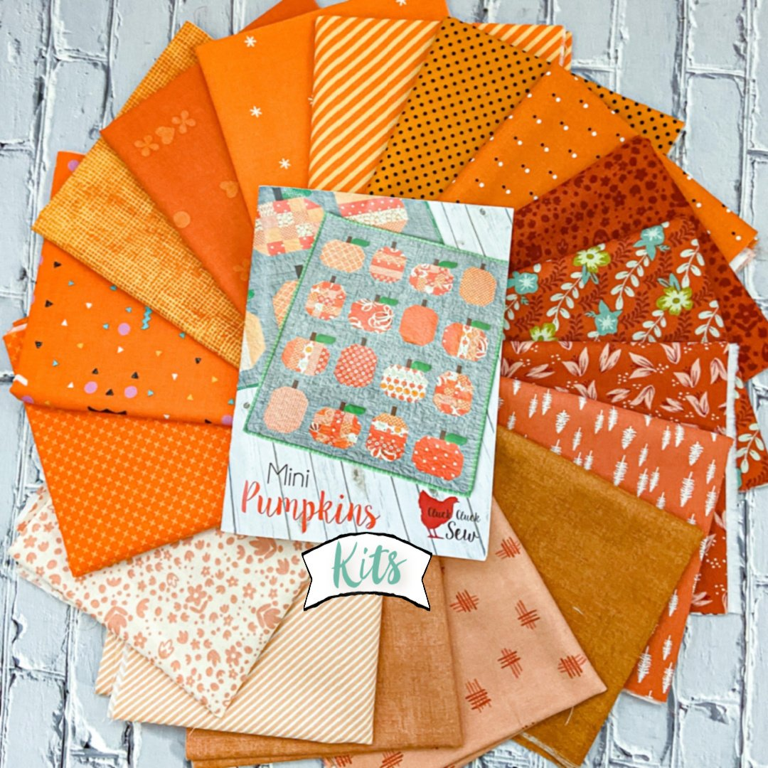 Mini Pumpkins Quilt Kit featuring Cluck Cluck Sew