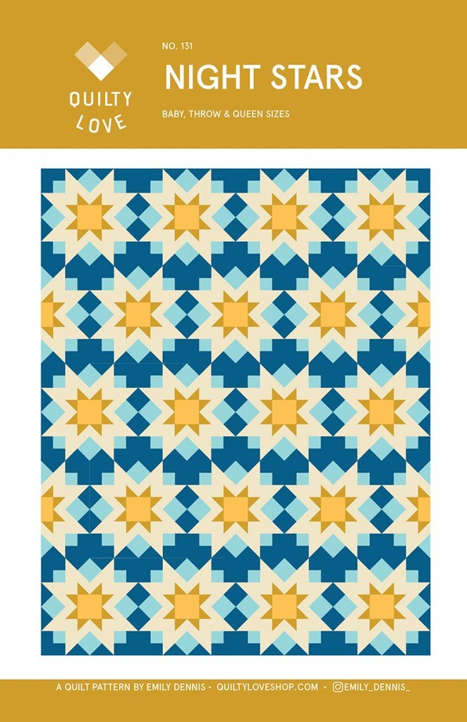 Night Stars Quilt Pattern by Quilty Love