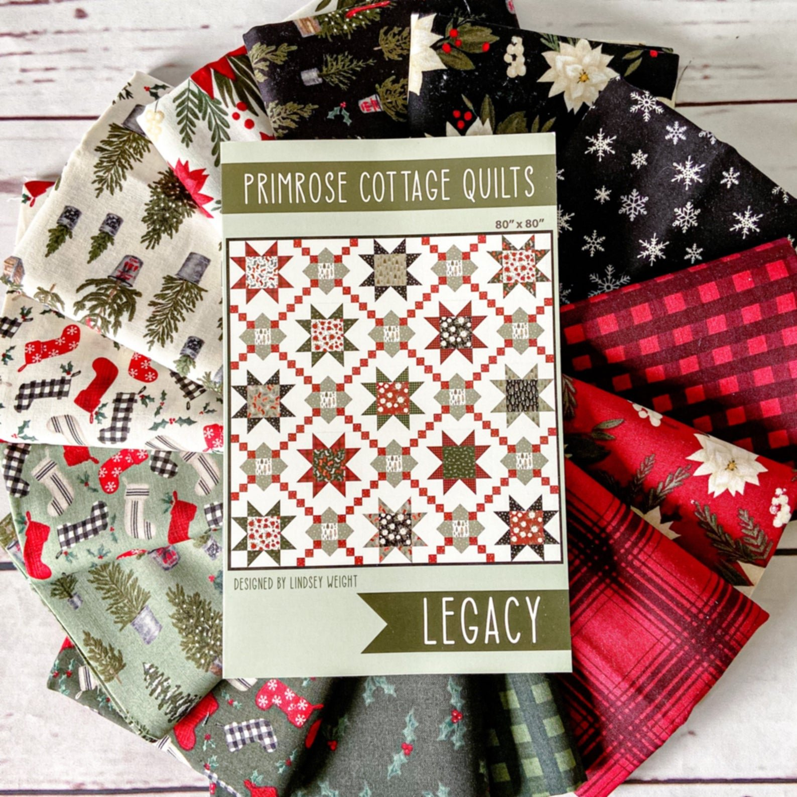 Legacy Christmas Quilt Kit featuring Farmhouse Christmas Fabric Collection