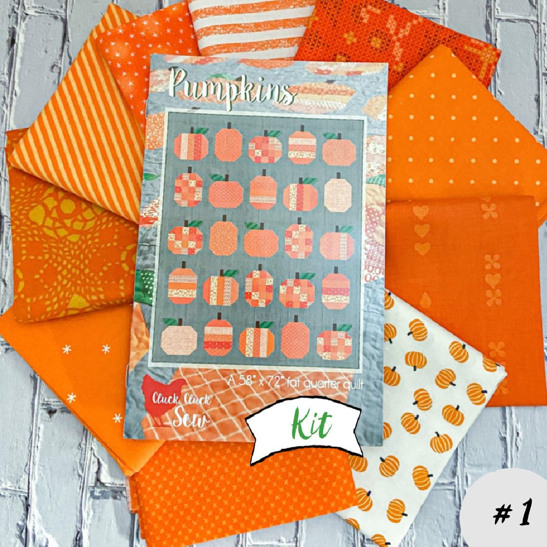 Pumpkins Quilt Kit featuring Cluck Cluck Sew