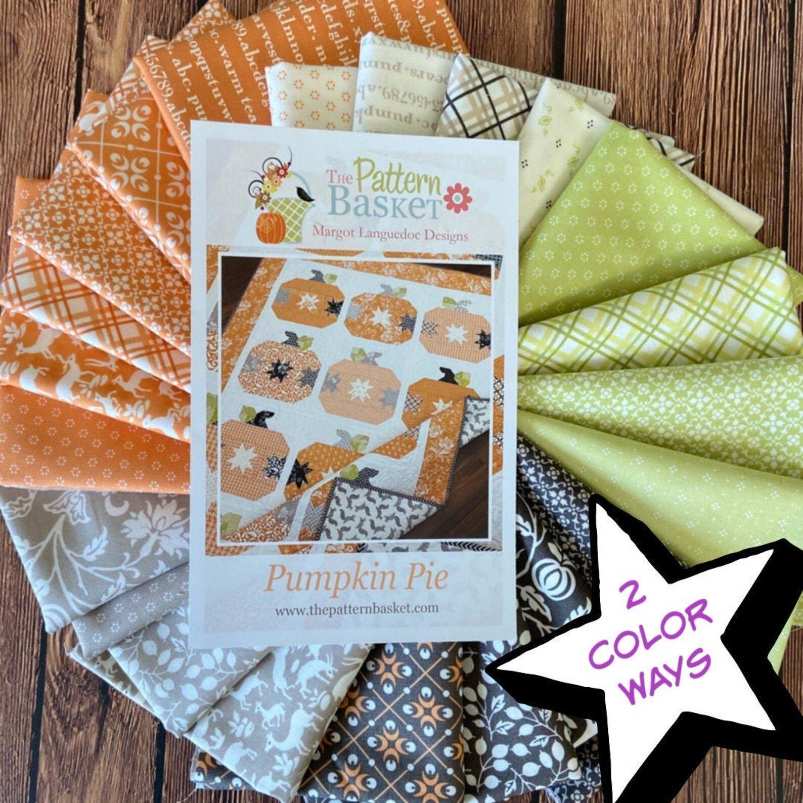 Pumpkin Pie Quilt Kit featuring The Pattern Basket