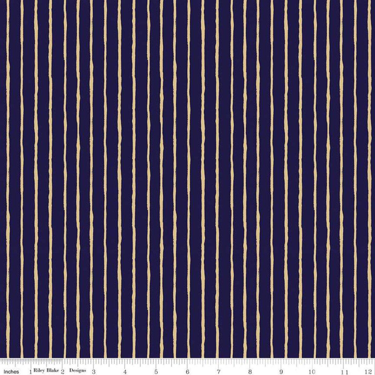 Dream World Stripes Blue Sparkle for Riley Blake