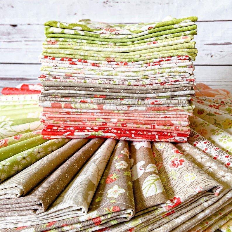 Strawberries & Rhubarb Half Yard Bundle for Moda