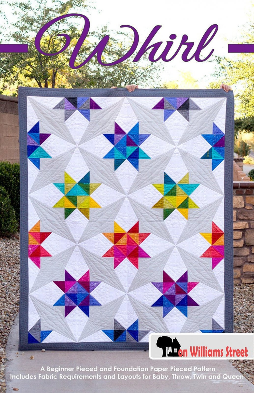 Whirl Quilt Pattern from On Williams Street