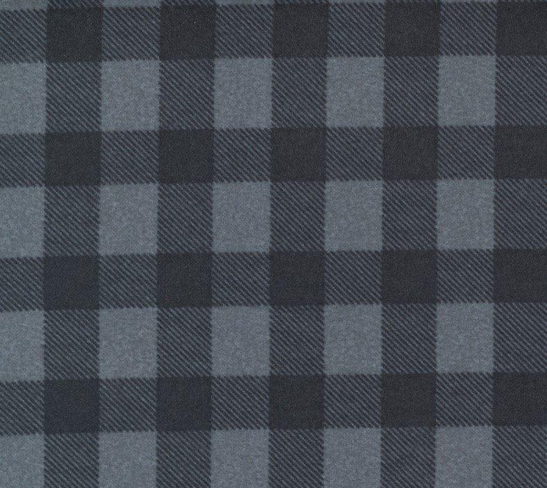 Yuletide Gatherings Coal Moda Flannel Grey