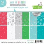 Lawn Fawn Single-Sided Petite Paper Pack 6X6 36/Pkg-Let It Shine Snowflakes, W...