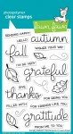 Lawn Fawn Clear Stamps 4X6-Scripty Autumn Sentiments
