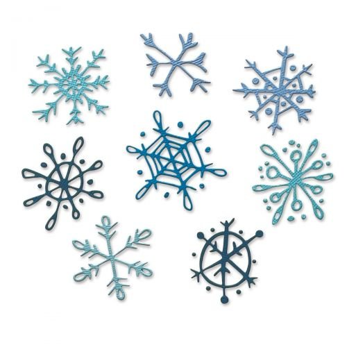 Sizzix Thinlits Dies By Tim Holtz 8/Pkg-Scribbly Snowflakes