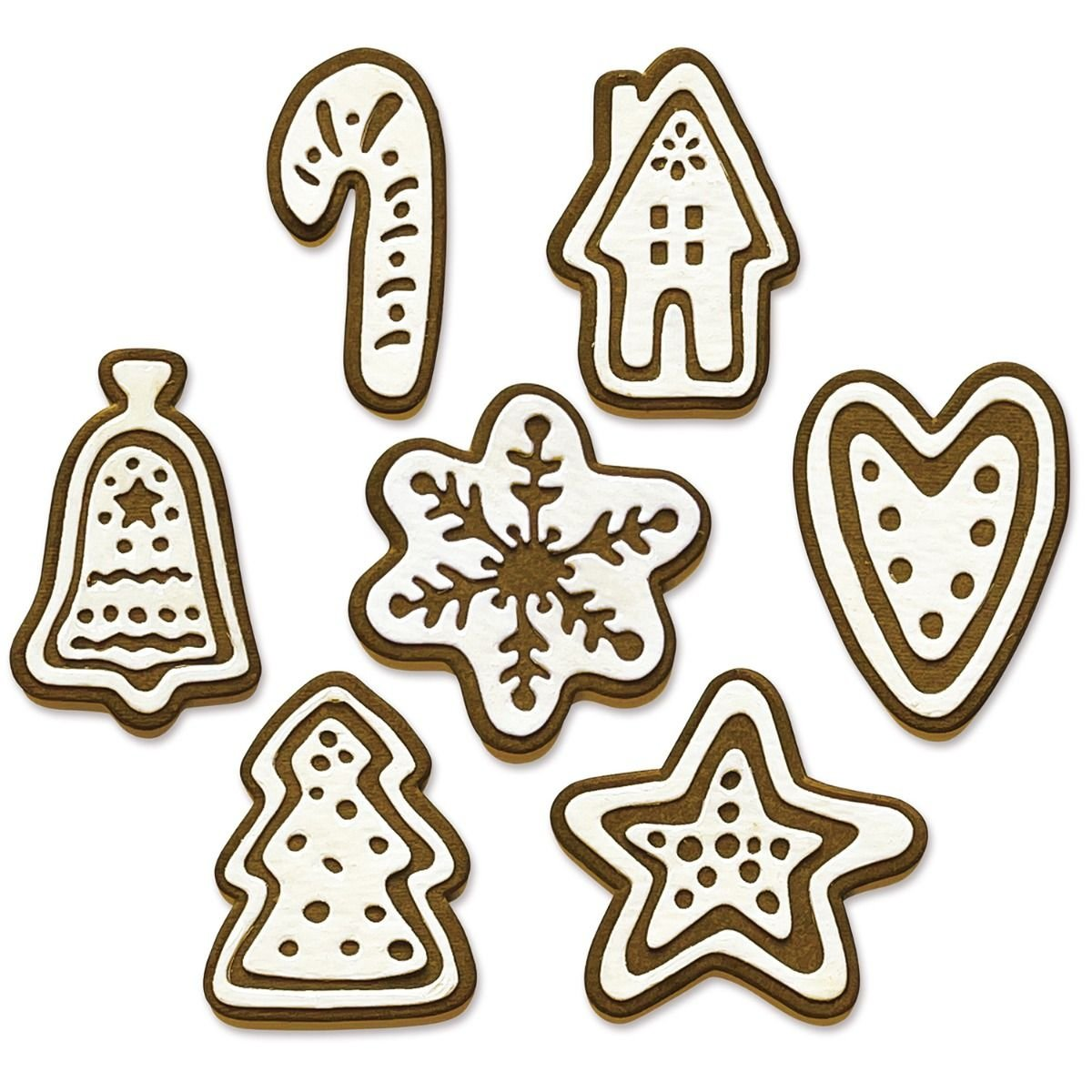 Sizzix Th By Tim Holtz 14/Pkg-Christmas Cookies