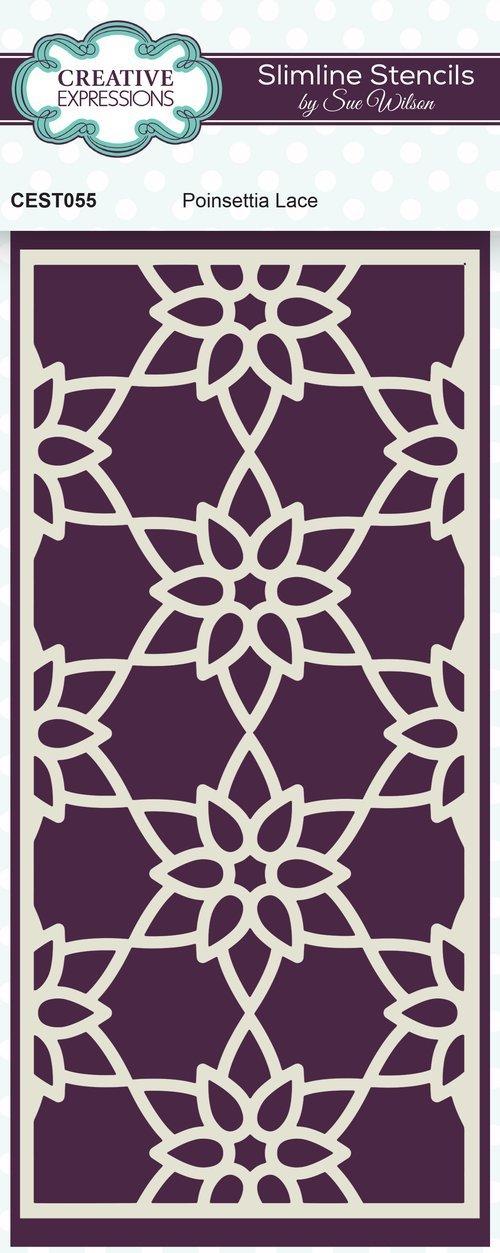 Poinsettia Lace Slimline Stencil