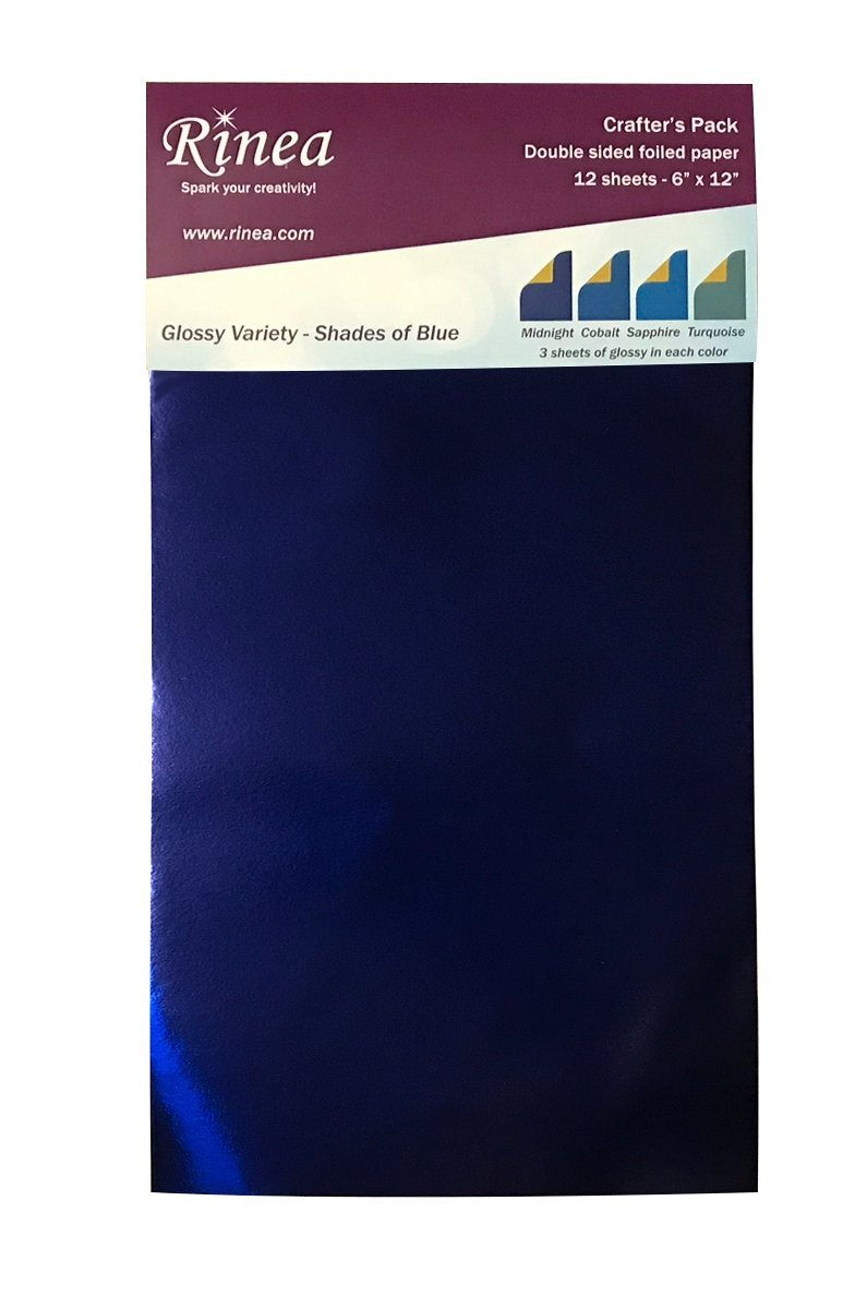 Shades of Blue Foiled Paper Glossy Variety Pack