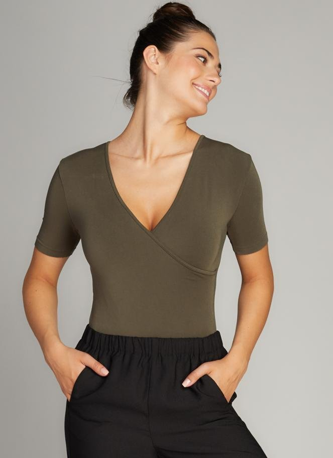 BAMBOO S/LESS WRAP BODY SUIT