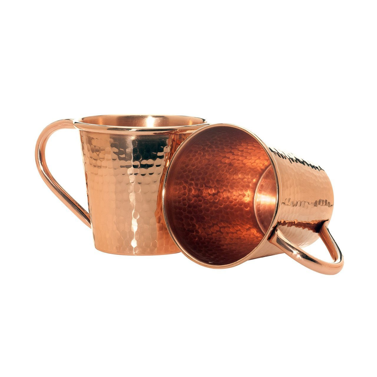 12OZ MOSCOW MULE MUG  HAMMERED COPPER WITH COPPER HANDLE