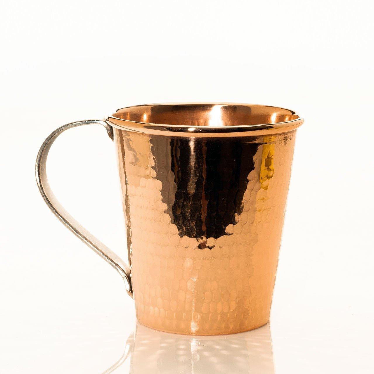 18OZ MOSCOW MULE MUG HAMMERED COPPER STAINLESS STEEL HANDLE