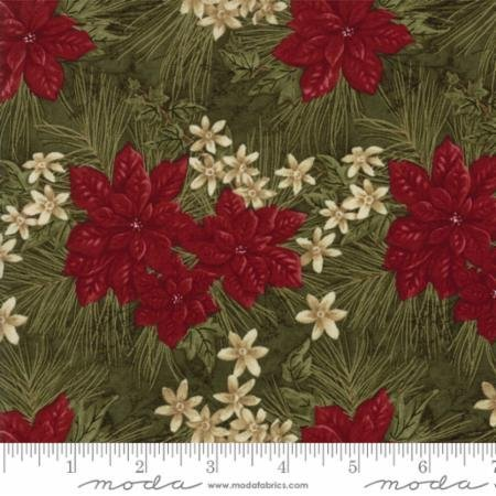 MODA HOLLY TAYLOR FOREVER GREEN PINE WITH POINSETTIAS 6691 15