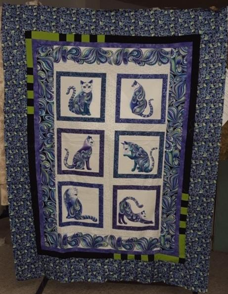 Cat-a-tude Panel quilt kit