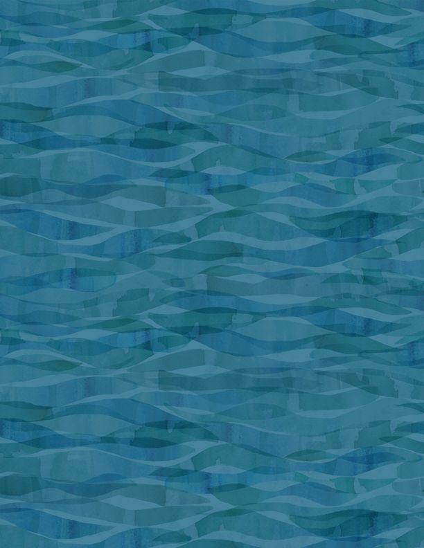 Wilmington Prints Whale love waves navy