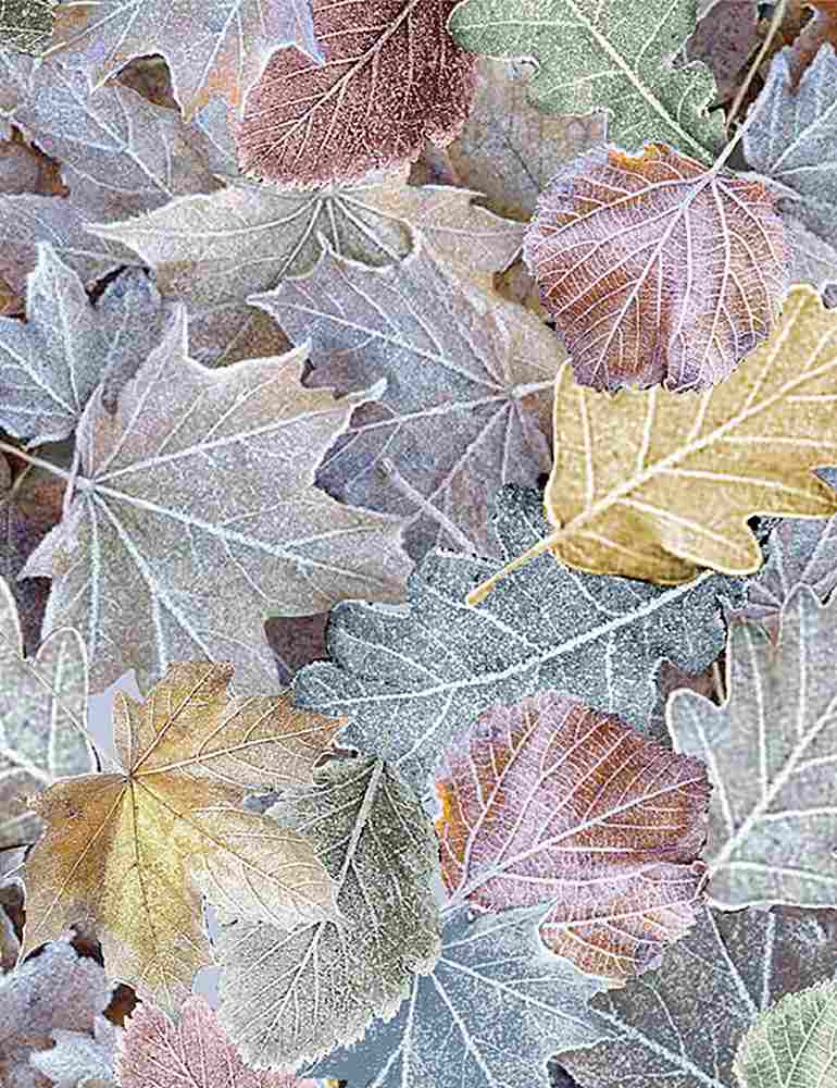 Timeless Treasures- Multicolored Winter Leaves