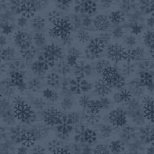 Benartex Evening Frost Flakes Blue