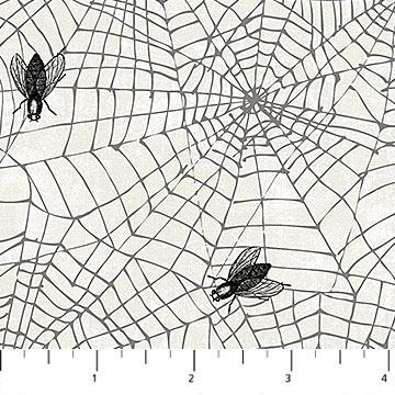 Northcott Wicked Spider Web White
