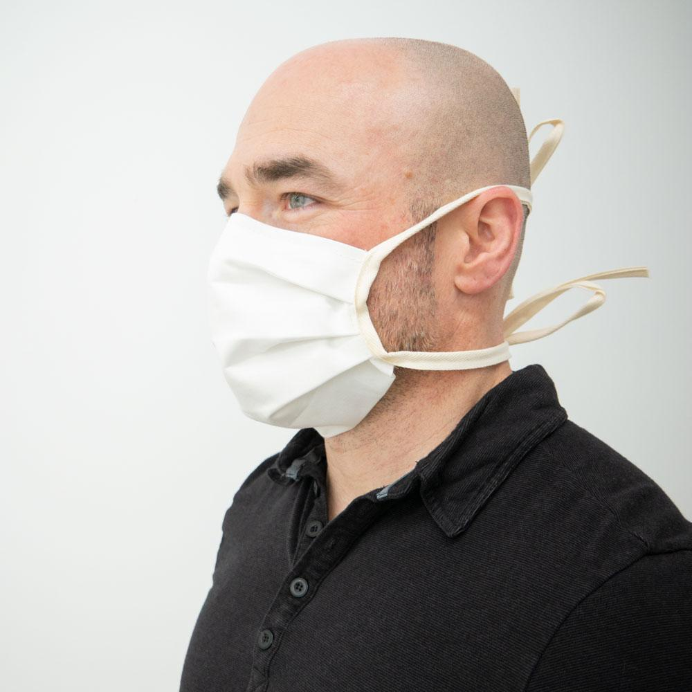 Tie Back Fabric Face Masks - Pack of 25,