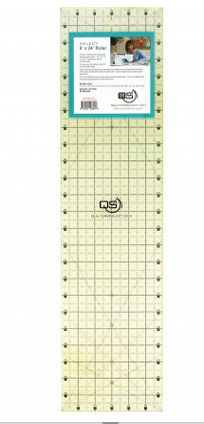 QUILTERS SELECT NON-SLIP RULER 6 x 24 QS-RUL6X24