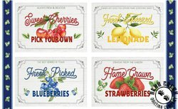 Berry best placemat panel