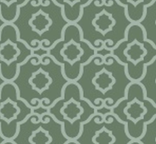 BLANK QUILTING BLOSSOM VINE GREY WITH WHITE DESIGN 8281-90