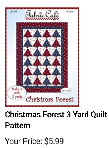 Christmas Forest - 3 yd quilt pattern