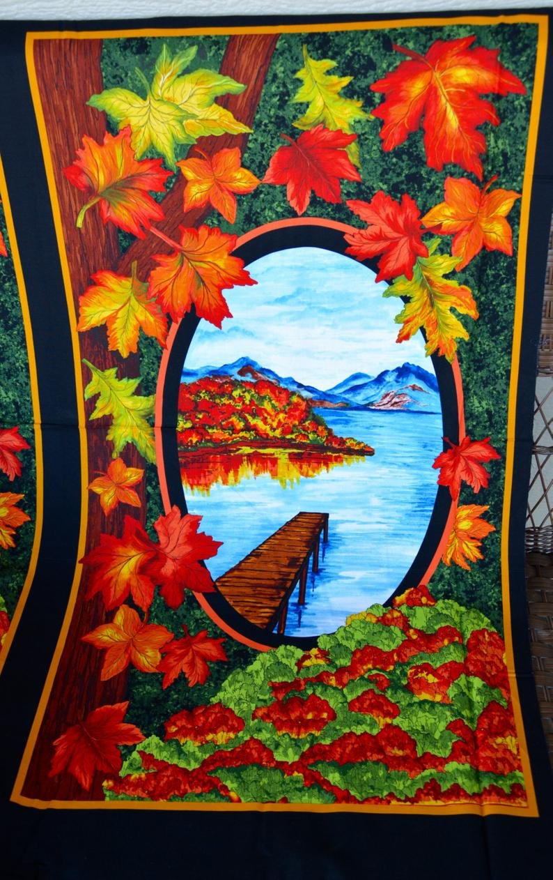 EXCLUSIVELY QUILTERS AUTUMN SPLENDOR FALL LEAF PANEL 60943-6