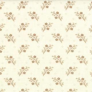 FLORAL GATHER SHIRT TALLOW TIME CREAM W/ TAN FLOWERS