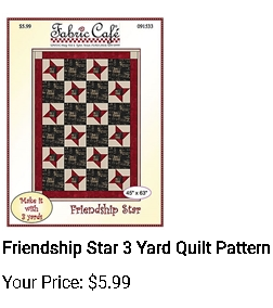 Friendship Star 3 yd quilt pattern