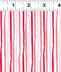 CLOTHWORKS GERBERA RED WHITE/PINK/RED/STRIPES Y1924 1