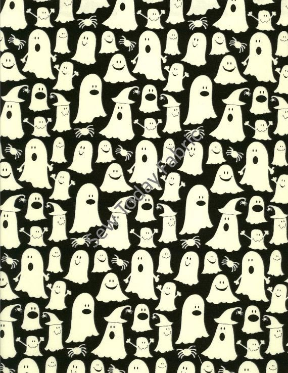 GLOW IN THE DARK BLACK WITH GHOSTS BOO-CG2371
