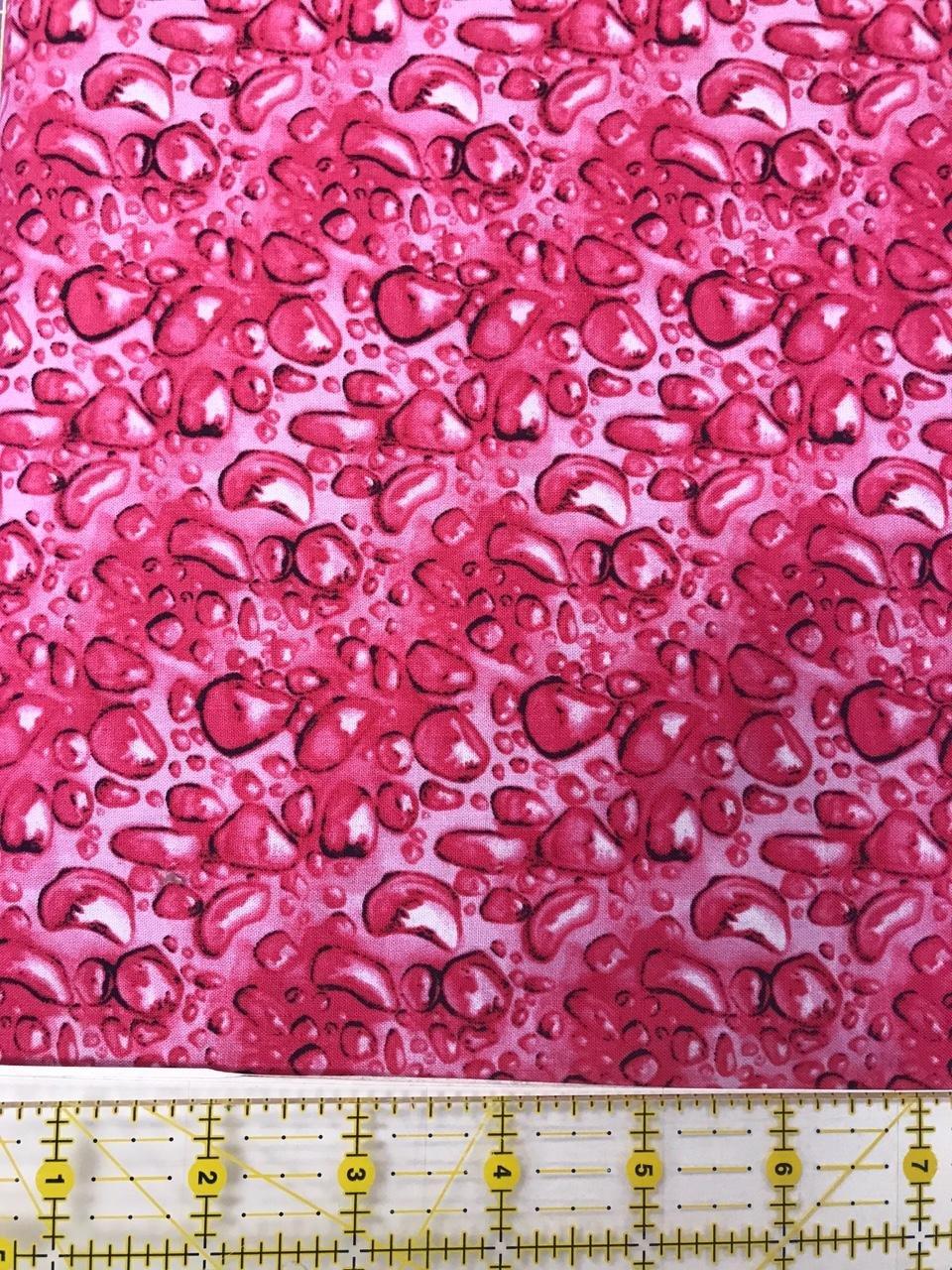 Clothworks water lilies dark pink