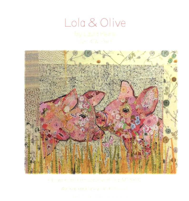 LOLA & OLIVE PIGS COLLAGE PATTERN
