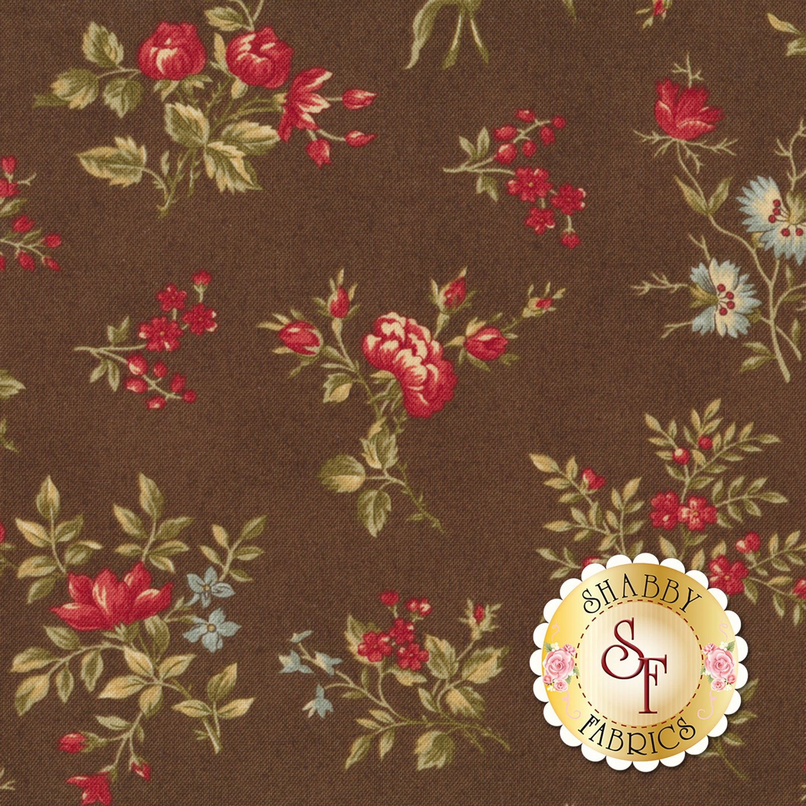 ROSEWOOD CHOCOLATE WITH RED FLOWERS 44184-13