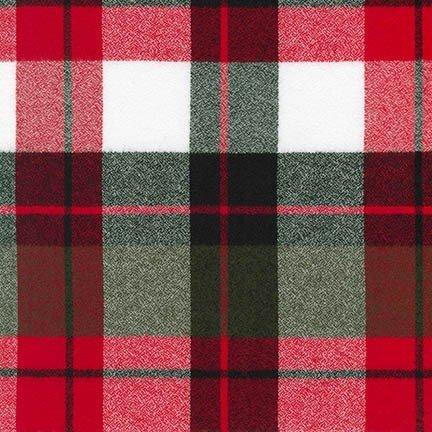 MAMMOTH FLANNEL RED, BLACK, WHITE BIG PLAID 17607-3