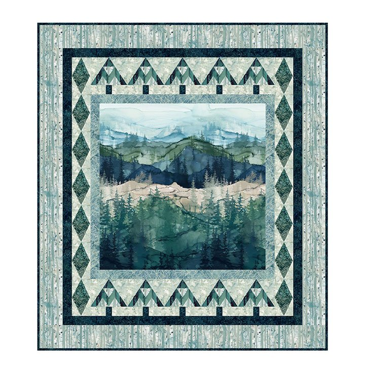 Serenity Pines Quilt Kit 63 x 71
