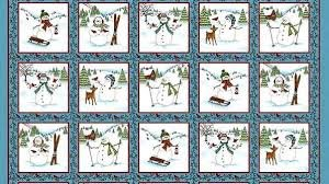 MAYWOOD FROLIC IN THE SNOW FLANNEL BLOCKS/PANEL MASF8701-B