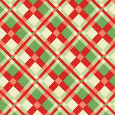 SWELL CHRISTMAS RED AND GREEN PLAIN 31122-11