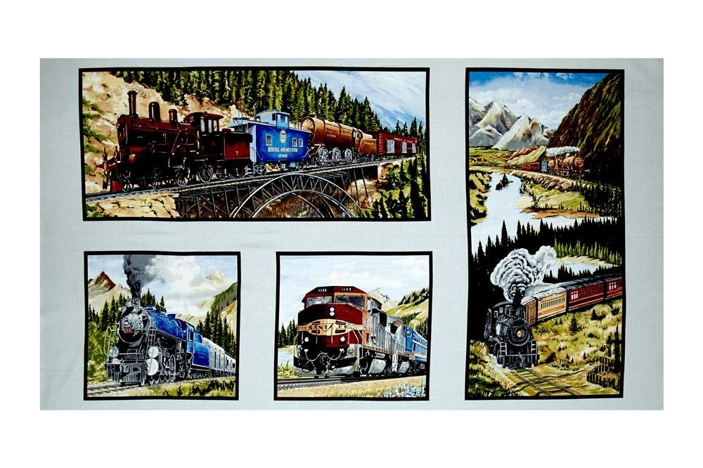 EXCLUSIVELY QUILTERS A TICKET TO RIDE TRAIN PANEL 61350 8