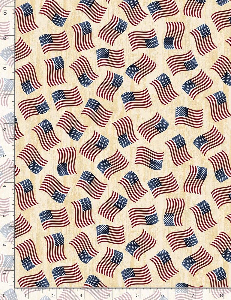 USA C7048 CREAM TOSSED FLAG